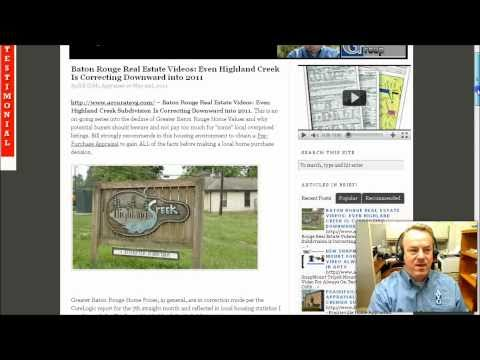 Baton Rouge Real Estate Videos Highland Creek Home Prices Correct Downward Into 2011