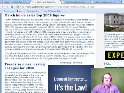 Baton Rouge Real Estate Housing News Update April 13 2010