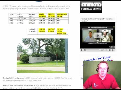 Baton Rouge Real Estate: Shenandoah Home Prices Increases Over 10% Into 2010